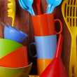 Stock Photo: Colorful kitchenware