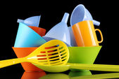 Kitchenware of plastic — Stock Photo