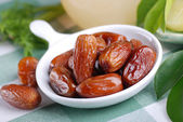 Dates on the table — Stockfoto