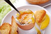 Jajko na miękko — Zdjęcie stockowe