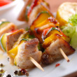 Stock Photo: Pork skewers