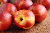 Peaches ripe nectarines — Stock Photo