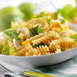 Pasta salad with lettuce — Stock Photo