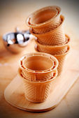 Wafer cups for Ice-Cream — Stock Photo