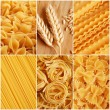 Italian pasta collage — Foto de Stock