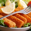 Crispy fish sticks — Stock Photo