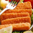 Crispy fish sticks — Foto Stock