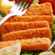 Crispy fish sticks — Stock fotografie
