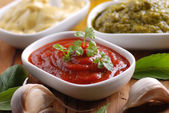 Ketchup and other sauces — Stock Photo