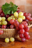 Bunches of red and green grapes — Stock Photo