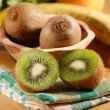 Cut kiwi fruits — Stock Photo