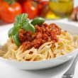 Stock Photo: Tagliatelle with meat sauce
