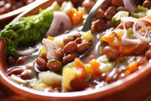 Bean soup in the bowl — Stock Photo