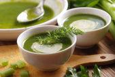 Fresh soup of celery — Zdjęcie stockowe