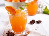 Orange granita in Sicily — Stock Photo