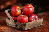 Pile of red apples — Stock Photo