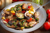 Grilled vegetables in the dish — Stock Photo