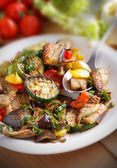Grilled vegetables in the dish — Stockfoto