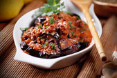Grilled eggplant with spices — Stock fotografie