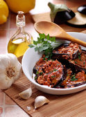 Grilled eggplant with spices — Foto Stock