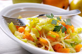 Spaghetti with zucchini and carrots — Stock Photo