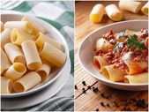 Paccheri Neapolitans with meat sauce — Stock Photo