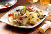 Paccheri Neapolitans with grilled vegetables — Stock Photo
