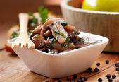 Sauteed mushrooms photographed in closeup — Stock Photo