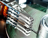 Hard disk drive detail — Stockfoto