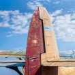 The tail part of the old plane - Stock Photo