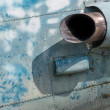 Stock Photo: Old Aircraft Jet Engine, exhaust pipe