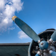 Propeller and engine of vintage airplane — Stock Photo #13668044