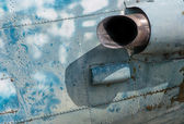 The old Aircraft Jet Engine, exhaust pipe — Stock Photo
