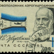 RUSSI- CIRC1963: stamp printed in USSR, show portrait founder of aerodynamics Zhukovskiy N.E., circ1963 — Stock Photo #21011037