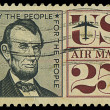 USA - CIRCA 1950s: A stamp printed in USA shows Abraham Lincoln, circa 1950s — Stock Photo