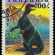 TANZANI- CIRC1991: stamp printed in Tanzanishows Iguanodon, circ1991 — Stock Photo #21185717
