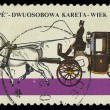 Stock Photo: POLAND - CIRC1965: stamp printed in Poland shows Horse-drawn