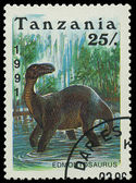TANZANIA - CIRCA 1991: A stamp printed in Tanzania shows Edmontosaurus, circa 1991 — Stock Photo