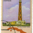 CUBA - CIRCA 1983 : The postal stamp printed on Cuba shows a lighthouse, circa 1983 — Stock Photo