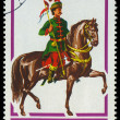 HUNGARY - CIRCA 1978: A stamp printed by Hungary, shows Hussar L — Stock Photo #21349913