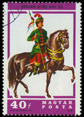 HUNGARY - CIRCA 1978: A stamp printed by Hungary, shows Hussar L — Stock Photo