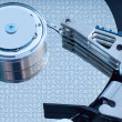 Stock Photo: Hard disk detail with a blue hue