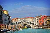 Canal grande v benátkách, itálie — Stock fotografie