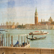 Grand Canal in Venice, Italy, artwork in painting style — Stock Photo