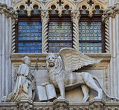 VENICE, ITALY architecture fragment Doge's Palace century — Stock Photo