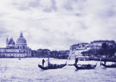 Gran canal de venecia, italia. foto en color de imagen a la antigua. — Foto de Stock
