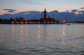 Beautiful water street - evening view Gulf of Venice, Italy — Stock Photo