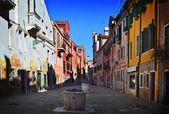 Old Venetian yard, Italy. — Stock Photo