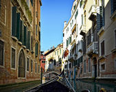 Beautiful water street - Venice, Italy — Stock Photo