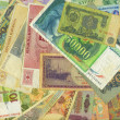 Foto de Stock  : Colorful old World Paper Money background